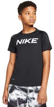 Nike Big Boys Pro Training Logo-Print Top