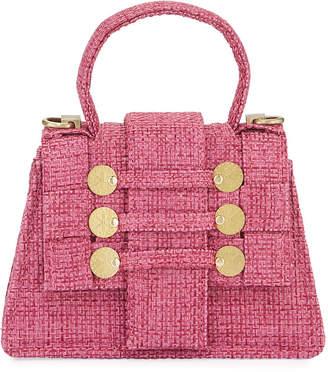 Petite Tweed Top-Handle Bag