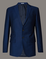 Autograph Blue Slim Fit Wool Jacket