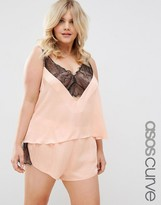 Asos Delicate Lace Insert Cami and Short Set