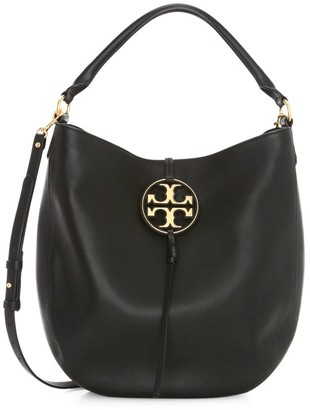Tory Burch Miller Metal Leather Hobo Bag