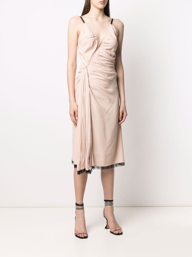 Thumbnail for your product : Prada Pre-Owned 2000s Draped Midi Dress