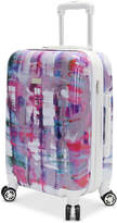 """Steve Madden Plaid 20"""" Expandable Hardside Carry-On Spinner Suitcase"""