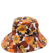 Dodo Bar Or Daria Floral-print Cotton-poplin Bucket Hat - Womens - Brown Print