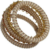 Cord And Chain Wrap Bangles
