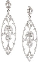 Loree Rodkin diamond skull drop earrings