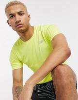 New Balance Running accelerate logo t-shirt in yellow