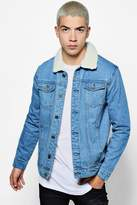boohoo Blue Regular Fit Denim Jacket