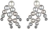 Lulu Frost Pearl Spray Earring - Grey Ombre