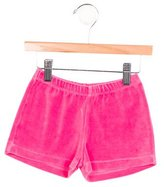 Oscar de la Renta Girls' Velvet Mini Shorts