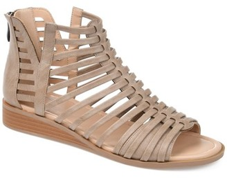 Brinley Co. Womens Caged Gladiator Wedge Sandal