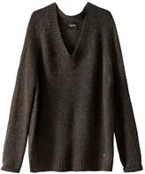 School Rag V-Neck Chunky Knit Sweater