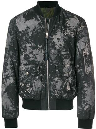 Mr & Mrs Italy splatter-print padded bomber jacket