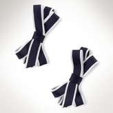 Striped-Bow Barrette 2-Pack