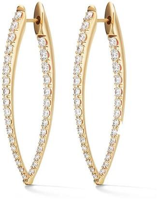 Melissa Kaye 18kt yellow gold and diamond Cristina large earrings