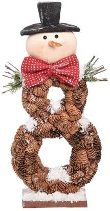 Transpac Foam Brown Christmas Snowman Decor