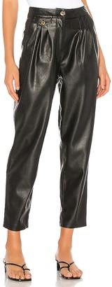 Blank NYC Vegan Leather Pleated Carrot Leg Pant