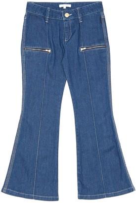 Chloé Zip pocket contrast stitch flare jeans