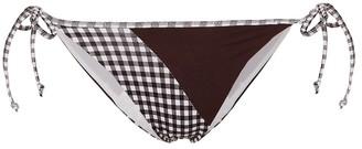 Marysia Swim Greenport gingham bikini bottoms