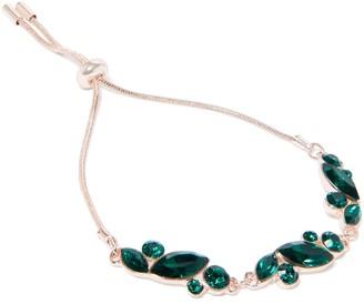 Forever New York Marquis Slide Chain Bracelet - Emerald - 00