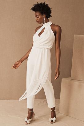 Badgley Mischka Alanna Jumpsuit By in White Size 0
