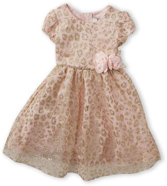 Rare Editions Toddler Girls) Golden Leopard Cap Sleeve Dress