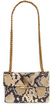 Kurt Geiger London Mini Kensington Metallic Snake Embossed Leather Crossbody Bag