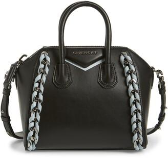 Givenchy Mini Antigona Woven Chain Leather Satchel