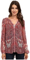 Lucky Brand Paisley Peasant Top