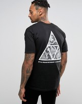 Huf T-shirt With Camo Triangle Back Print
