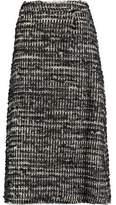 Simone Rocha Frayed Woven Tweed Midi Skirt