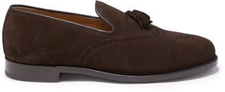 Hugs & Co Brown Suede Tasselled Brogues Welted Leather Sole