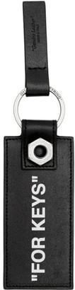Off-White Black Quote Keychain