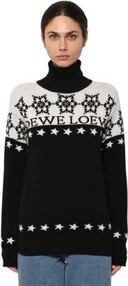 Loewe Snowflake Intarsia Knit Turtleneck