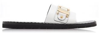 Prada Chain Embellished Slides