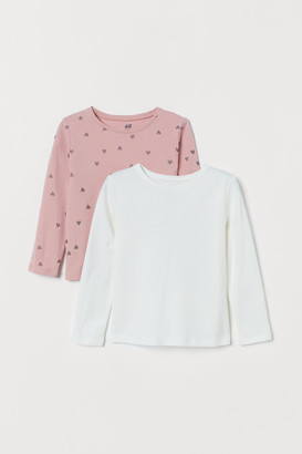 H&M 2-pack Long-sleeved Tops - Pink