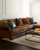 Horchow Massoud Autumn Jade Sectional Sofa