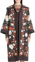 Dolce & Gabbana Women's Rose Print Brocade Coat