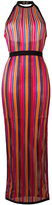 Balmain striped contrast trim dress - women - Polyamide/Viscose - 42