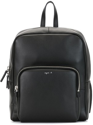 agnès b. Logo-Print Square Backpack