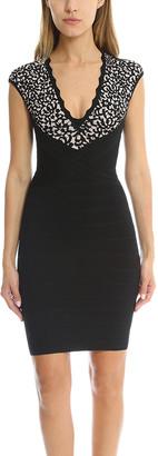Herve Leger Cindy Lace Jaquard Dress