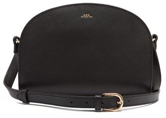 A.P.C. Half Moon Saffiano-leather Cross-body Bag - Womens - Black