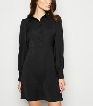 New Look Collared Long Sleeve Shirt Dress