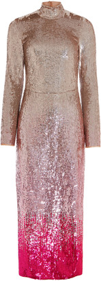 Temperley London Opia Mock Neck Midi Dress