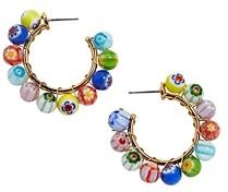 BaubleBar Strada Glass Bead Hoop Earrings