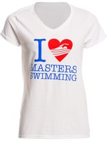 U.S. Masters Swimming USMS Women's Love Swimming VNeck T-Shirt - 8148094
