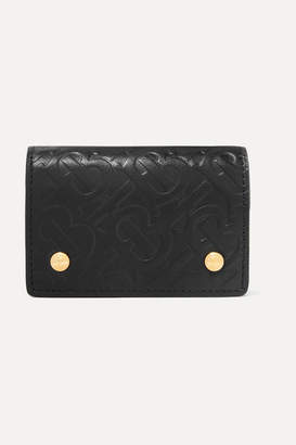 Burberry Embossed Leather Wallet - Black