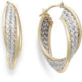 Macy's Two-Tone Rope Hoop Earrings in 10k Gold