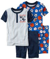 Carter's Boys 10-12 4-Piece Sports Pajama Set