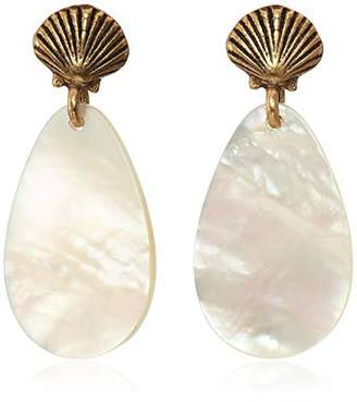 Alex and Ani Women's Mother of Pearl Shell Earrings